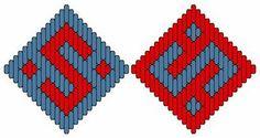 Medieval Arts & Crafts: Brick stitch pattern #10, reversed