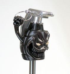 "Very cool version of the classic ""grenade"" shift knob. Custom Rat Rods, Custom Cars, Vw Rat Rod, Crane, Vw Mk1, Arte Hip Hop, Baroque, Bizarre, Hood Ornaments"