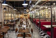 2016 Restaurant & Bar Design Awards Announced,Handmade Burger Co (Birmingham, UK) / Brown Studio . Image Courtesy of The Restaurant & Bar Design Awards