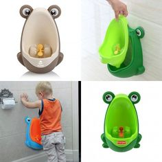 Toilet training baby urinal - hilarious (and kind of genius!)