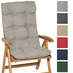 Cuscino sfoderabile per sedie e poltrone da Giardino Verdone Beautissu Cuscino per Sedia a Sdraio LoftLux DC 175x45x5cm