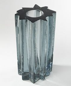 Angelo Mangiarotti, Glass Vase for Vistosi Murano, 1969.