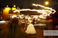simonyao.com Columbus Ohio wedding photographer  #winterwedding  #weddingsparklers  #brideandgroom
