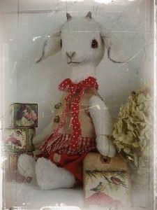 Mohair Vintage Style Goat Pattern 13 Inch   eBay