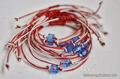 FanyCraft: Мартеници, мартеница, martenitsa Washer Necklace, Handmade Gifts, Blog, Jewelry, Bracelet, Blue Prints, Creative Ideas, Do Crafts, Kid Craft Gifts