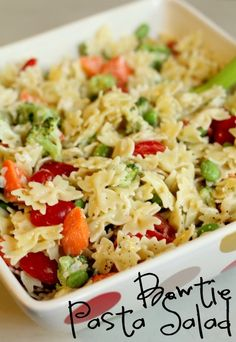 bow tie pasta salad recipe for bow tie theme baby shower