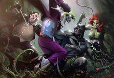 Batman foes by Gabriele Dell'Otto