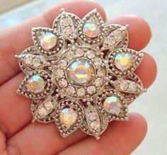 Sparkling Rhinestone Snowflake Pin