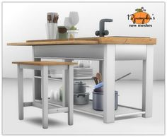 Sims 4   kitchen island & bar stool #13pumpkin31 buy mode surfaces seating new objects
