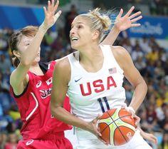 Die Basketballerin Elena Della Donne beim Olympischen Turnier in Rio 2016…