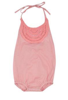 Crochet Romper - Blush
