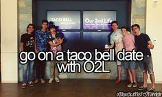 My Favorite Youtubers Our2ndLife ( Sam Pottorff, Kian Lawley, Jc Caylen, Ricky Dillion, Trevor Moran, And Connor Franta ) And My Favorite Restaurant TACO BELL !!
