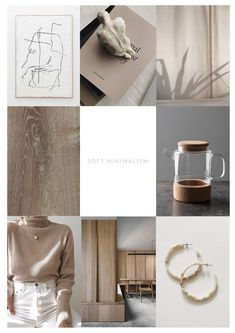 I'm slowly shifting from monochrome interiors to more of a soft, subtle colour palette that we are seeing emerge into Soft Minimalism. Monochrome Interior, Home Trends, Simple Shapes, Light Colors, Earthy, Minimalism, Palette, Place Card Holders, Interiors