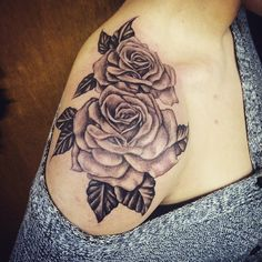 #rose #tattoo #shoulder #rosetattoo #shouldertattoo