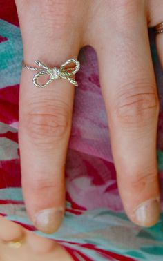 Forget-Me-Knot Bow Ring ღ  Bridesmaid gift?