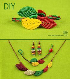 Macrame Leaf Bracelet Tutorial « Jewelry