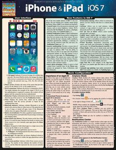 Iphone & Ipad- Ios 7 - BarCharts Publishing Inc makers of QuickStudy Ipad Ios, Ios 7, What Is Cell, Build Your Own Computer, Google Tricks, Iphone Life Hacks, Ios News, Tech Sites, Newest Cell Phones