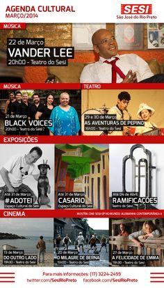 Agenda Cultural - Sesi São José do Rio Preto - Março/2014
