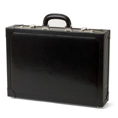 a7b29503703 Attache Case in Smooth Black   Cobalt Blue Suede. Aspinal Of LondonBlue ...