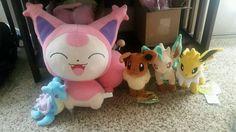 Pokemon Plush Lot Eeveelution RARE DX Skitty Eevee Jolteon Leafeon Lapras Canvas | eBay