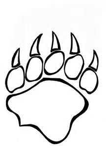 Bear Paw Coloring Page