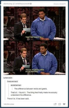 the difference between nerds and geeks according to tumblr