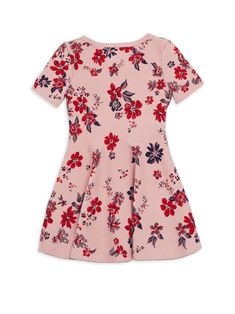 Milly Minis Little Girl's & Twilight Floral Flare Dress - Pale Pink 6-7