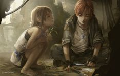 """[""""The Kids Are Alright"""" by Lychi on deviantART] Post-apocalyptic kids"""