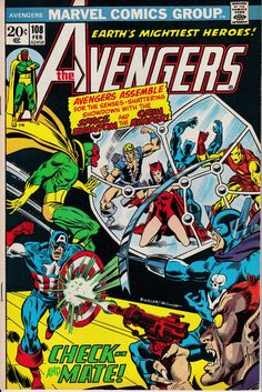Avengers 1963 1st Series 108 February 1973 Issue  by ViewObscura, $18.00