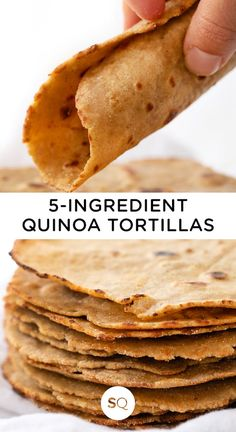 If you're gluten-free and sensitive to corn, these homemade QUINOA Flour Tortillas will be your savior! This easy recipe makes the best healthy tortillas for when you're having Mexican night at home! Quinoa Flour Recipes, Recipes With Flour Tortillas, Vegan Recipes, Cooking Recipes, Easy Tortilla Recipe, Healthy Tortilla, Salsa Recipe, Recettes Anti-candida, Quinoa Tortillas