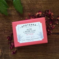 Aloe + Rose Clay Complexion Soap // Dry to Mature Skin #naturalskincare #greenbeauty