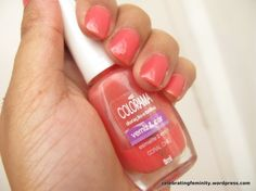 """Luv this colour -Maybelline Colorama Nail Polish """"Coral Chic"""""""