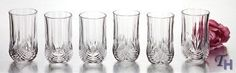 Set of 6 Elegance Crystal Highballs Hostess Gifts, Drinkware, Home Kitchens, House Warming, Craftsman, Kitchen Dining, Crystals, Elegant, Glasses