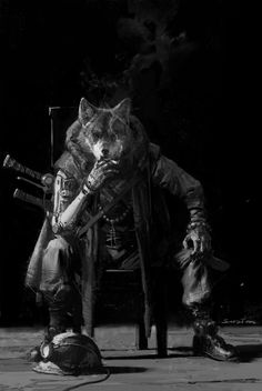 Urban Samurai, Werewolf Art, Fanart, Dnd Monsters, Fantasy Male, Sci Fi Characters, Anthro Furry, Fantasy Weapons, Animal Heads
