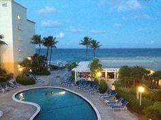 Pool and Beach at twilight at the Holiday Inn Highland Beach (Highland Beach, Florida)