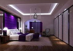 Purple Bedroom | Purple luxury bedroom | 3D house, Free 3D house pictures and wallpaper