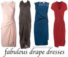 Drape dresses for women over 40   40plusstyle.com