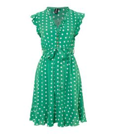 Izabel London Polka dot dress, Green