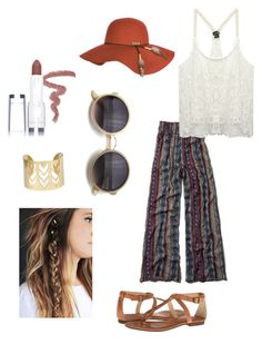 """""""BOHO style"""" by nataliehsieh ❤ liked on Polyvore featuring Abercrombie & Fitch, Wet Seal, Billabong, Frye and myface cosmetics"""