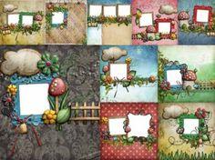 10 lovely mushroom collage style photo frame