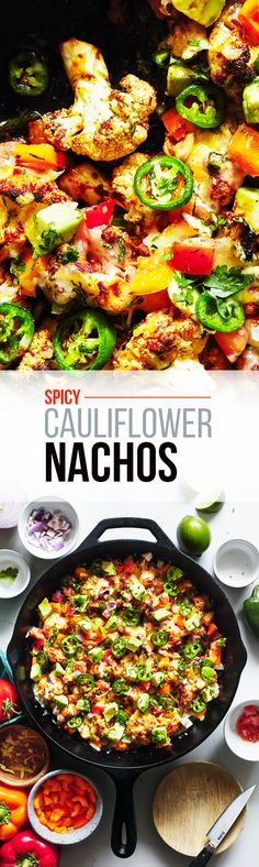 Spicy Cauliflower Nachos — Evergreen Kitchen