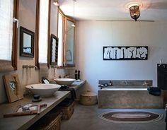 Tons chaleureux dans la salle de bains
