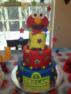 Declan's 2nd Birthday ELMO cake :o)