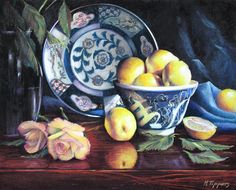 """Bowl Of Meyers by Marie Tippets Pastel ~ 16"""" x 20"""""""