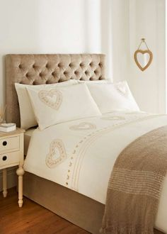 Embroidered Heart Duvet Set View 1