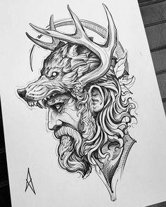Tattoo Design Drawings, Tattoo Sleeve Designs, Tattoo Sketches, Tattoo Designs Men, Sleeve Tattoos, Norse Tattoo, Viking Tattoos, Lion Tattoo, Armor Tattoo