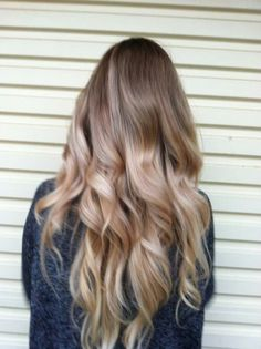 Ash brown/cool blonde ombre hair. Love it!