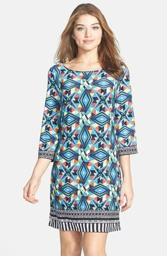 Laundry by Shelli Segal Print Jersey Shift Dress available at #Nordstrom PURCHASED