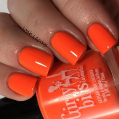 Lavish Layerings: Girly Bits Hoop! There It Is Collection (My Picks) Thump Your Melons is a hot neon orange creme.