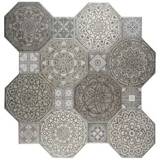 Merola Tile Imagine Decor 17-3/4 in. x 17-3/4 in. Ceramic Floor and Wall Tile (17.87 sq. ft. / case), Cement Grey/Low Sheen